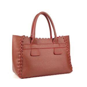PINK HALEY Tote Scalloped Summer Shopping Bag